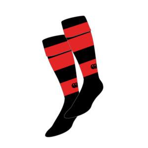 Big Stones Team Sock Black Red