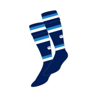 Hamme Match Socks Navy Sky White