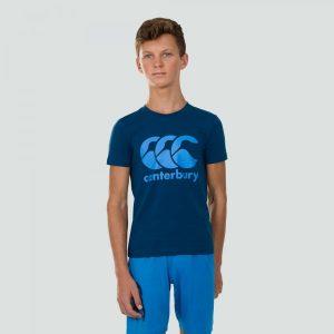 CCC Logo Tee Junior Poseidon Blue