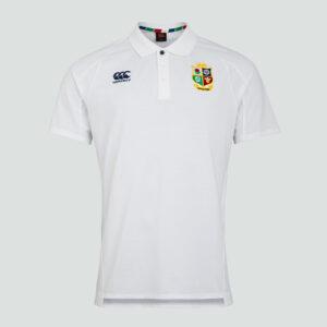 Polo Piqué Lions Britannique et Irlandais Senior Blanc