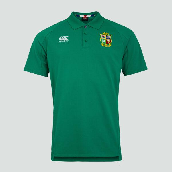 British & Irish Lions Pique Polo Senior Green