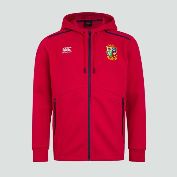 British & Irish Lions Full Zip Tech Hoody Red