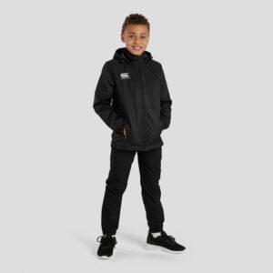 Club Full Zip Rain Jacket Junior Black