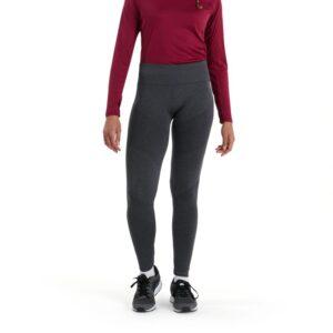 Vapodri Seamless Legging Femme Noirci Chiné
