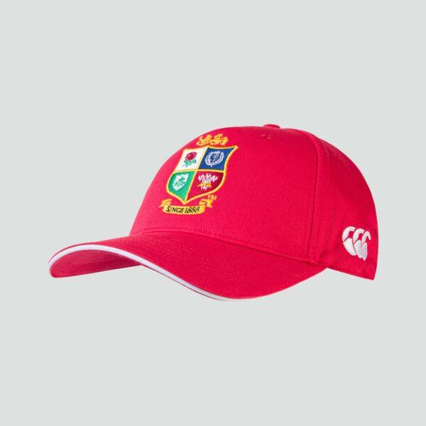 British & Irish Lions Cotton Drill Cap Red