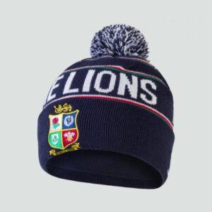 Bonnet à Pompon Doublé Polaire Lions Britannique et Irlandais Bleu