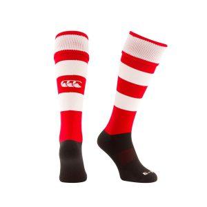 CCC Team Hooped Sock Flag Red White