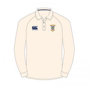 CCB Cricket LS Shirt Sr White